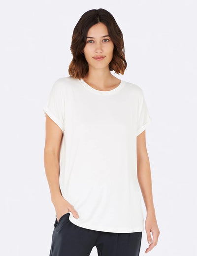 White Downtime Lounge Top