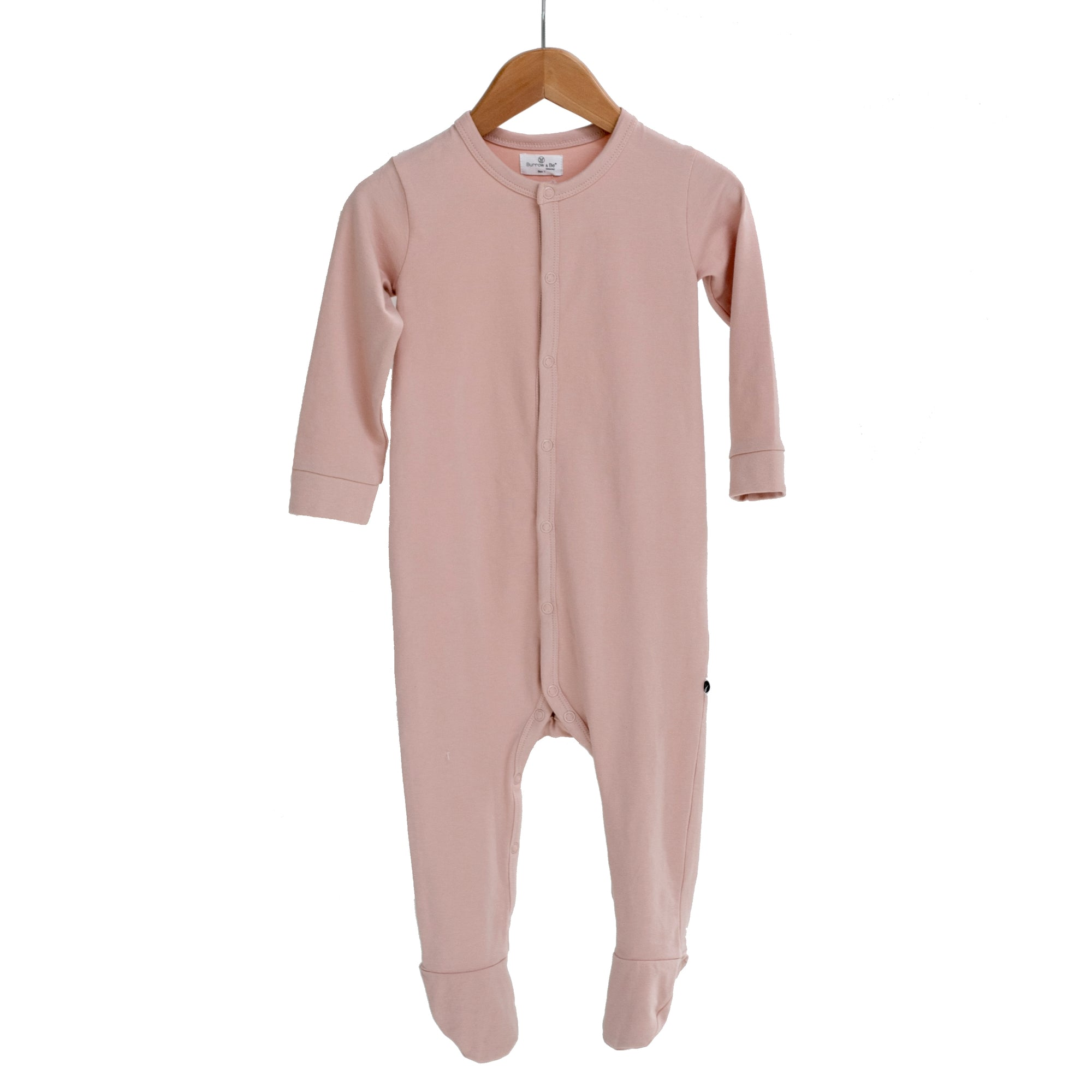 Burrow & Be Dusty Rose Sleep Suit