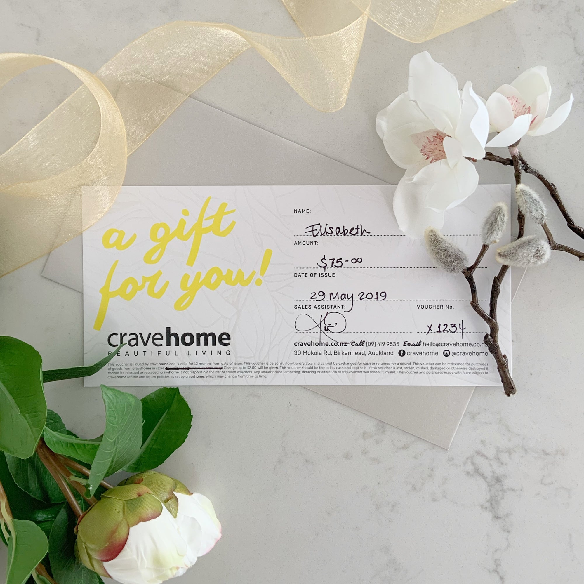 cravehome $75 Gift Card