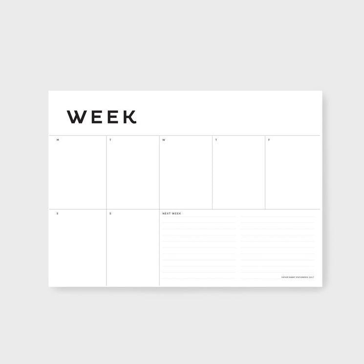 Father Rabbit A4 Weekly Planner