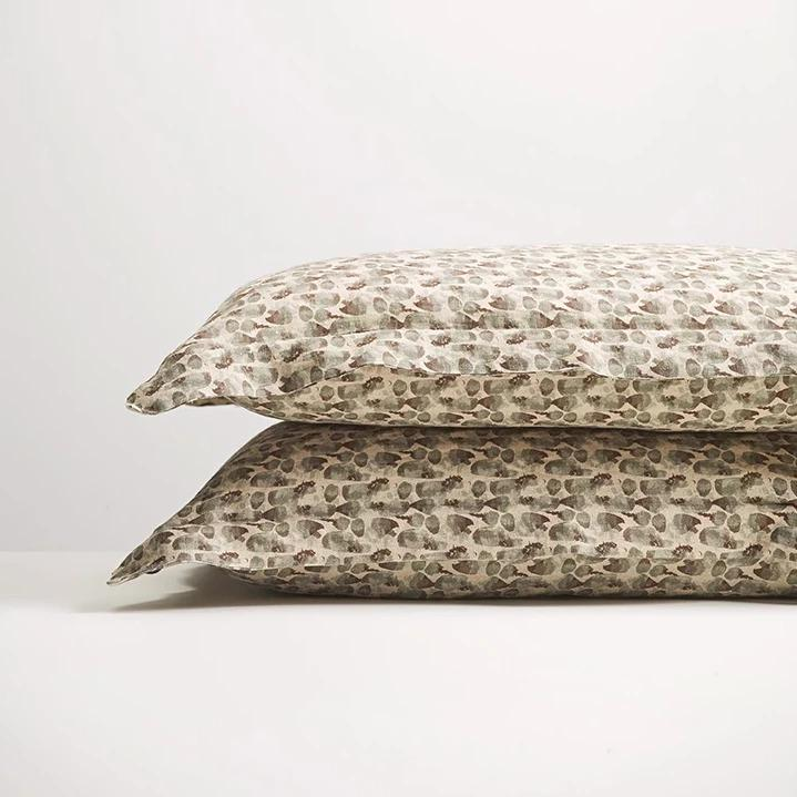 Thread Design Olive Flutter Pillowcase