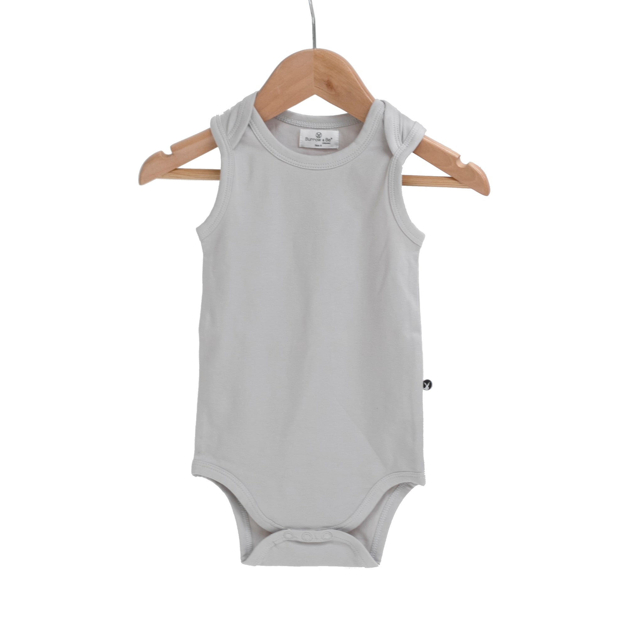 Burrow & Be Grey Singlet Onesie