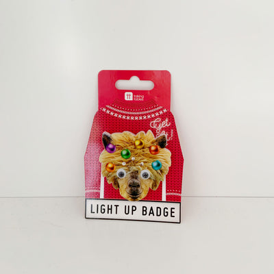 Light Up Christmas Badge Talking Tables