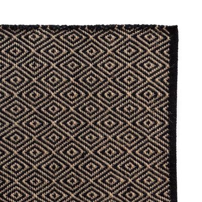 Parnell + Co Black & Natural Diamond Rug Large