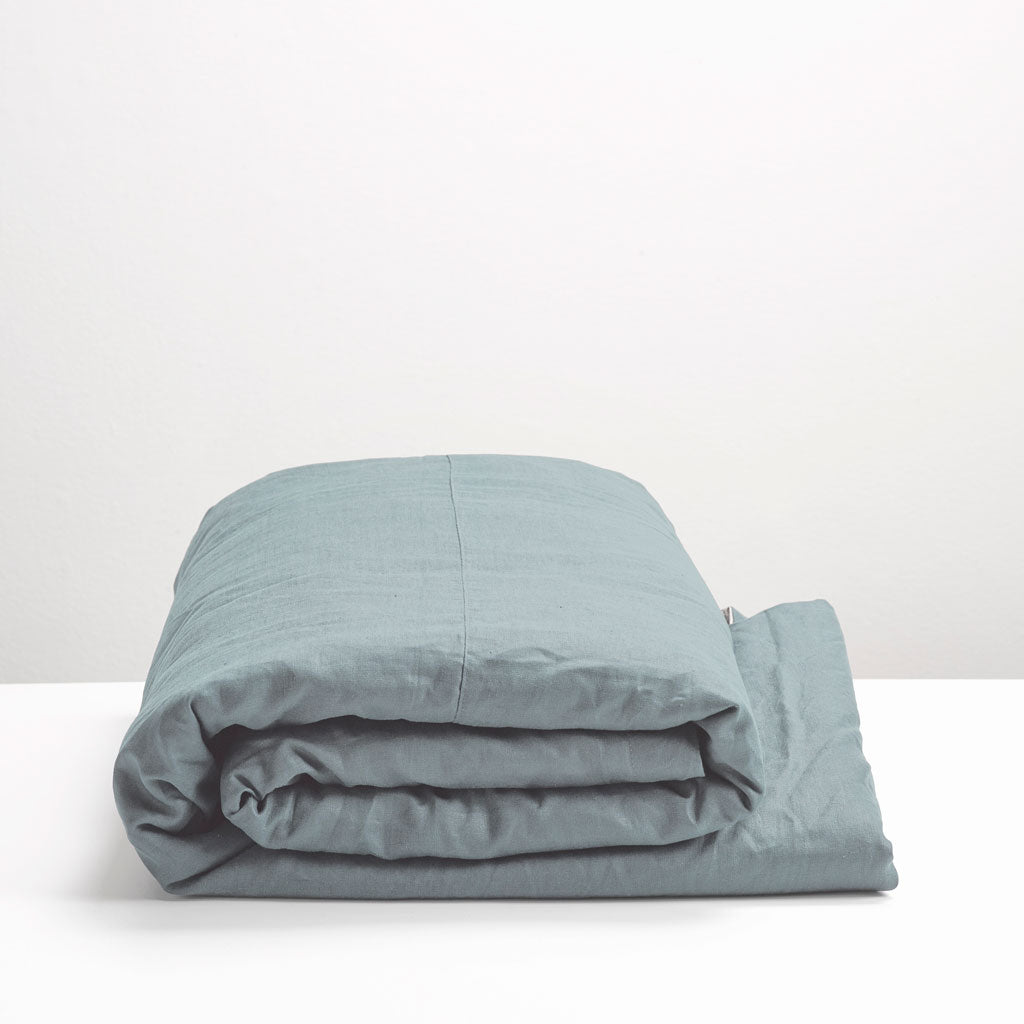 Thread Design Ocean Linen Queen Duvet