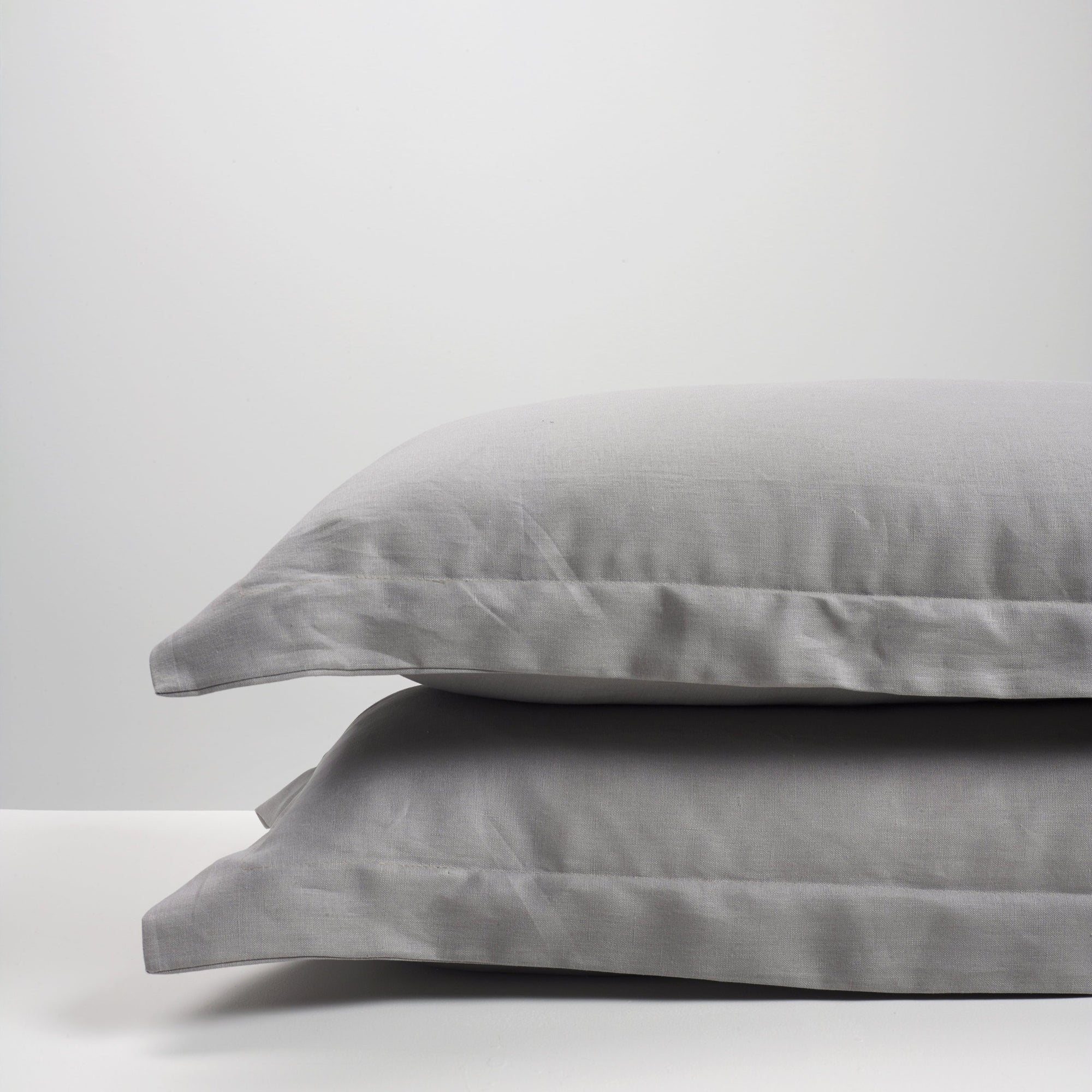Smoke Linen Pillowcases Pair Thread Design
