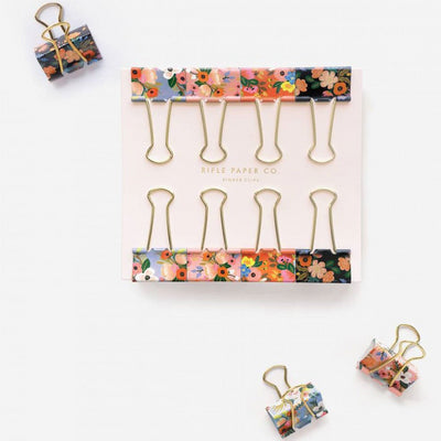 Rifle Paper Floral Bulldog Clips