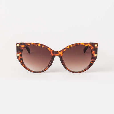 Stella and Gemma Raven Tort Stud Sunglasses