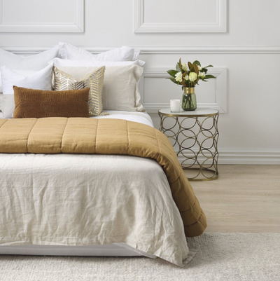 Thread Design Natural Linen Queen Duvet