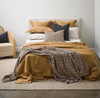 Thread Design Cinnamon Linen Queen Duvet