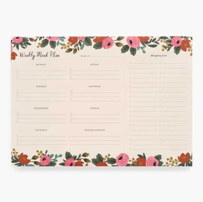 Rifle Paper Co Rosa Weekly Meal Planner