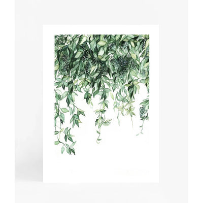 Leden Leaf Waterfall Print