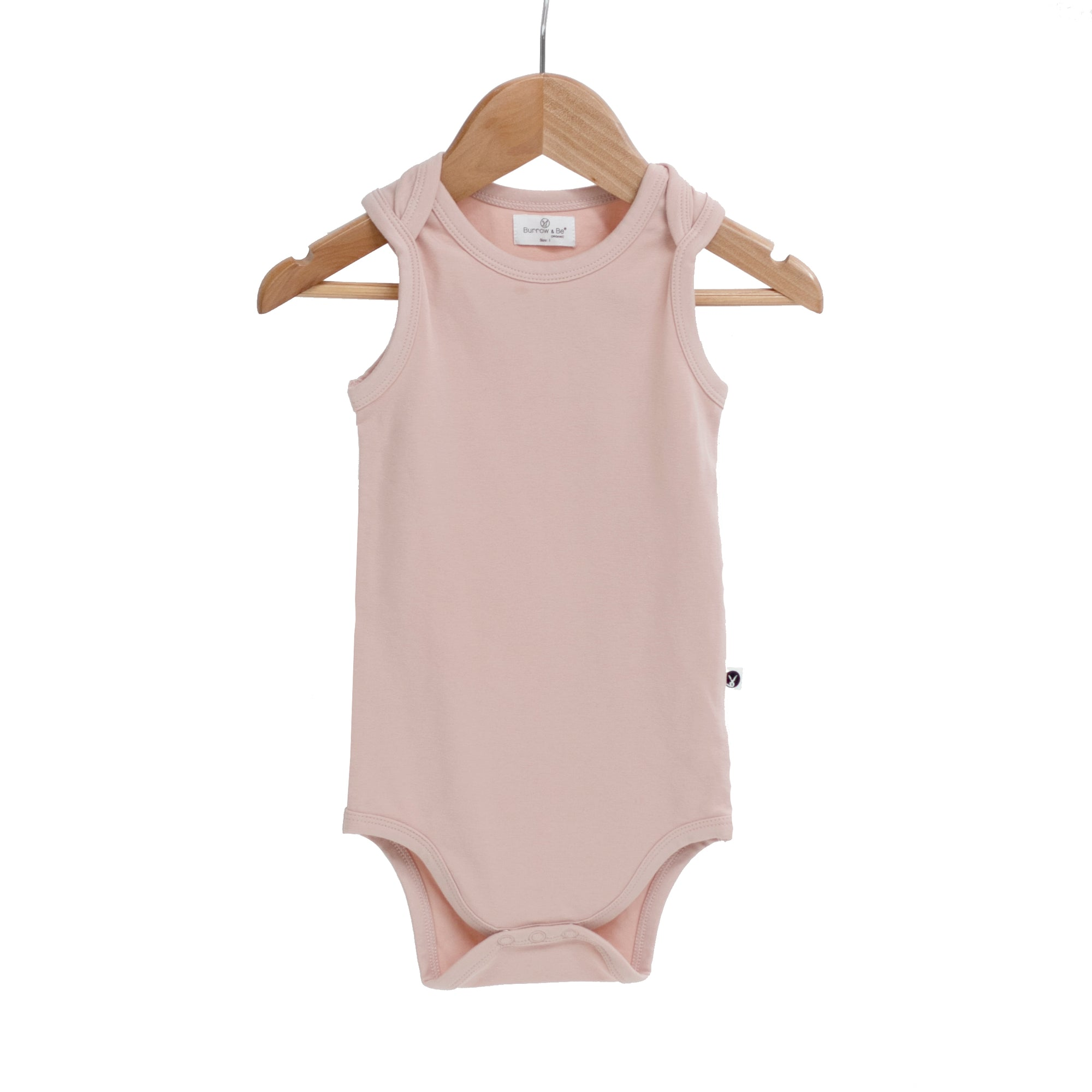 Burrow & Be Dusty Rose Singlet Onesie