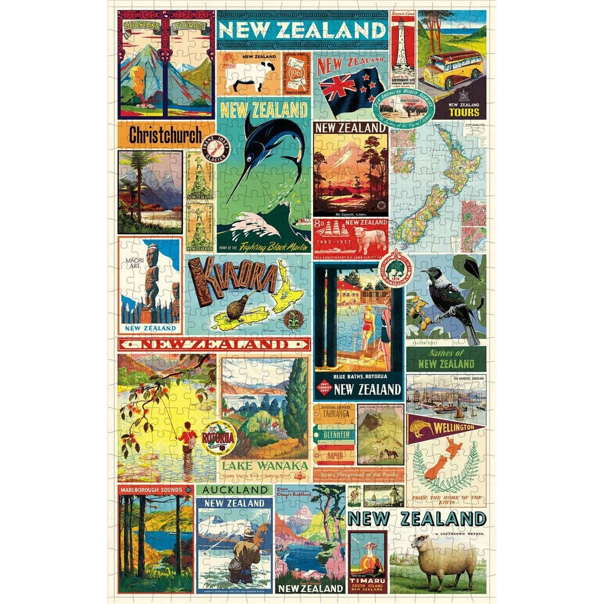 Cavallini & Co New Zealand Images Puzzle