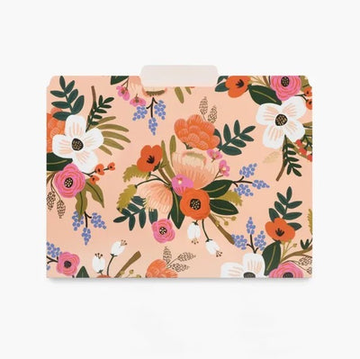 Lively Floral File Folders Set 6