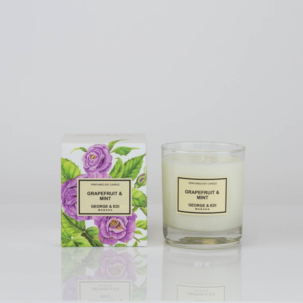 George & Edi Grapefruit Mint Candle