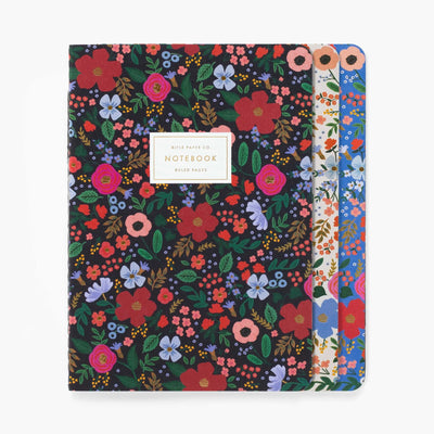 Rifle Paper Co Wild Rose Stitched Notebook Set