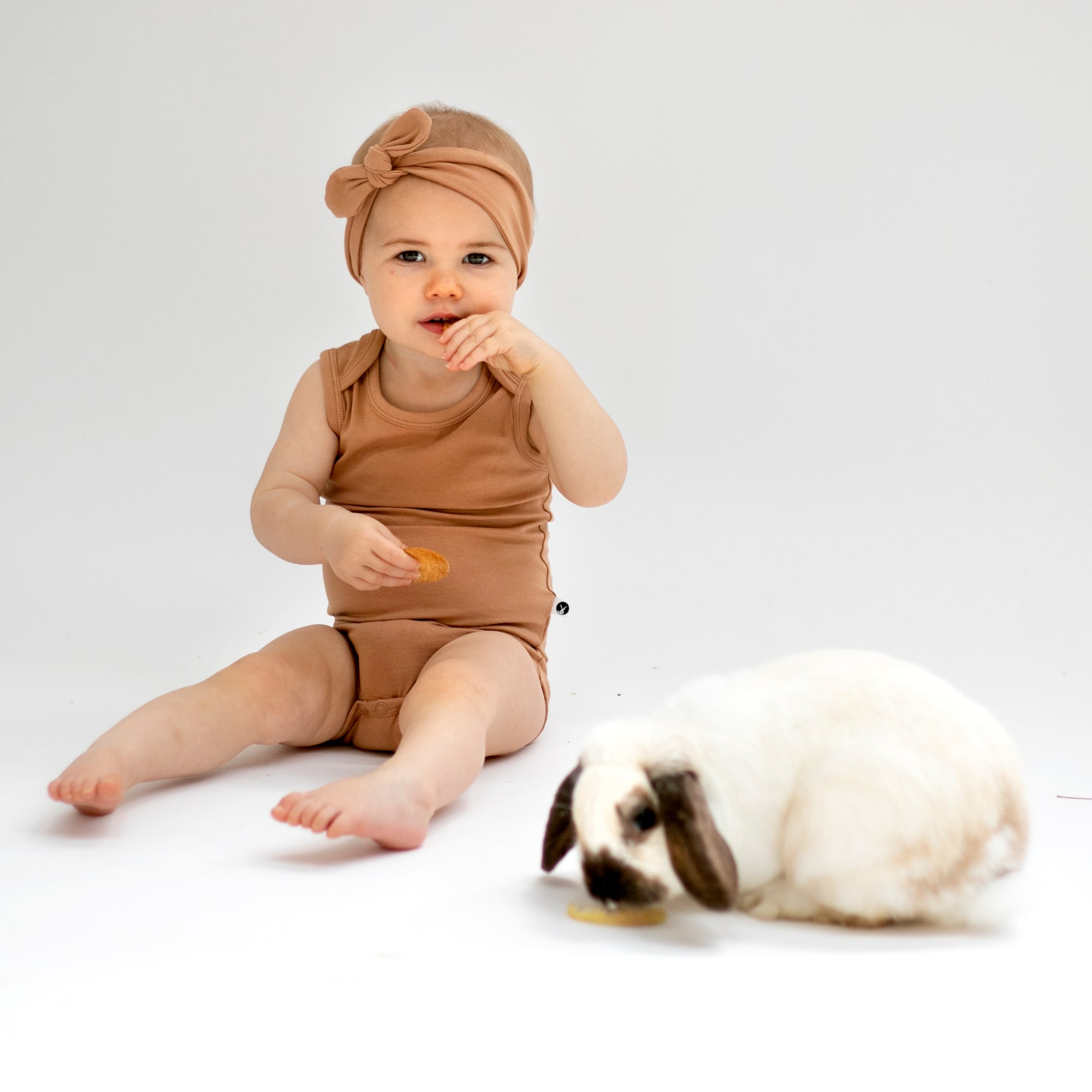 Burrow & Be Tawny Brown Onesie