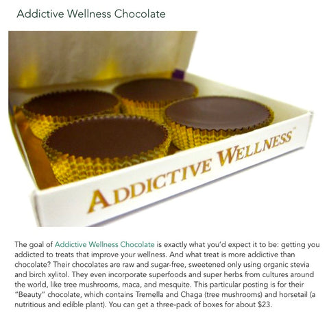 One Green Planet Addictive Wellness Chocolate