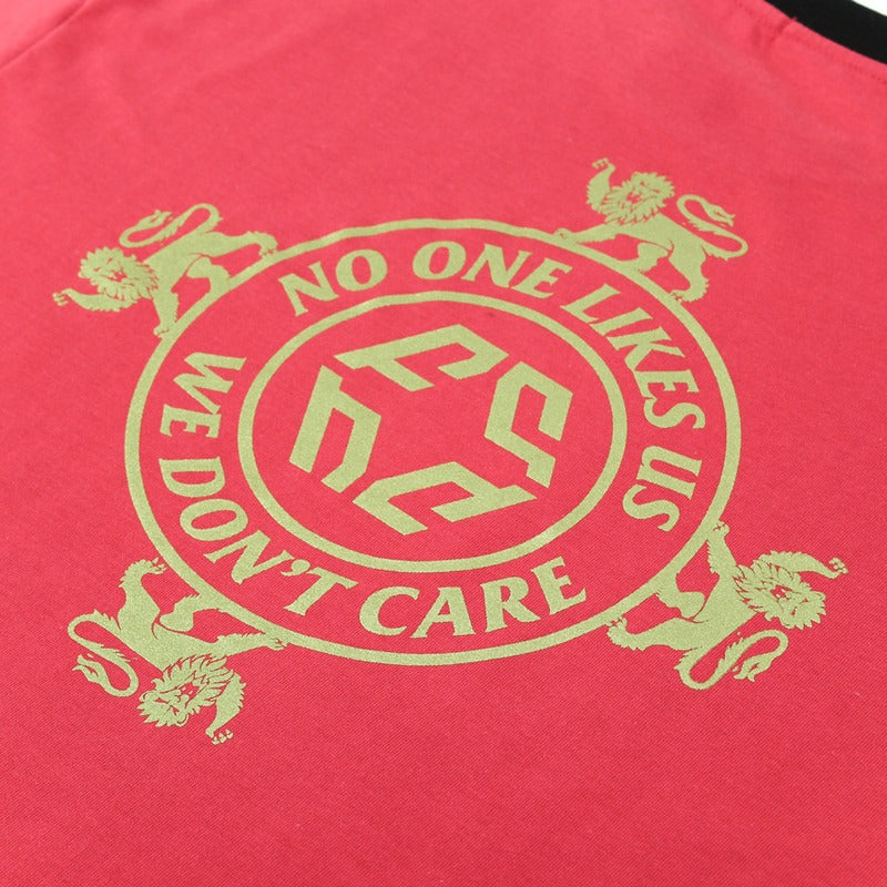 NO ONE LIKES US TEE PINK
