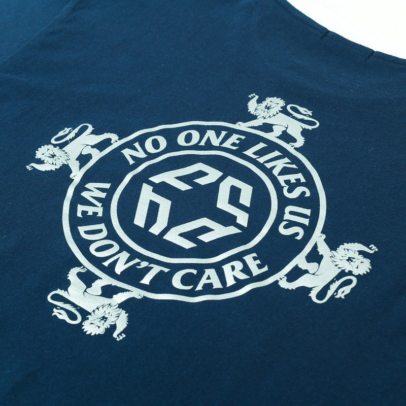 NO ONE LIKES US TEE NAVY