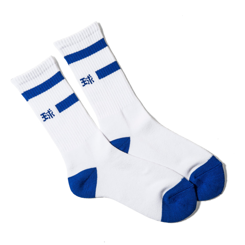 """蹴球"" SOCKS / WHITE × BLUE"