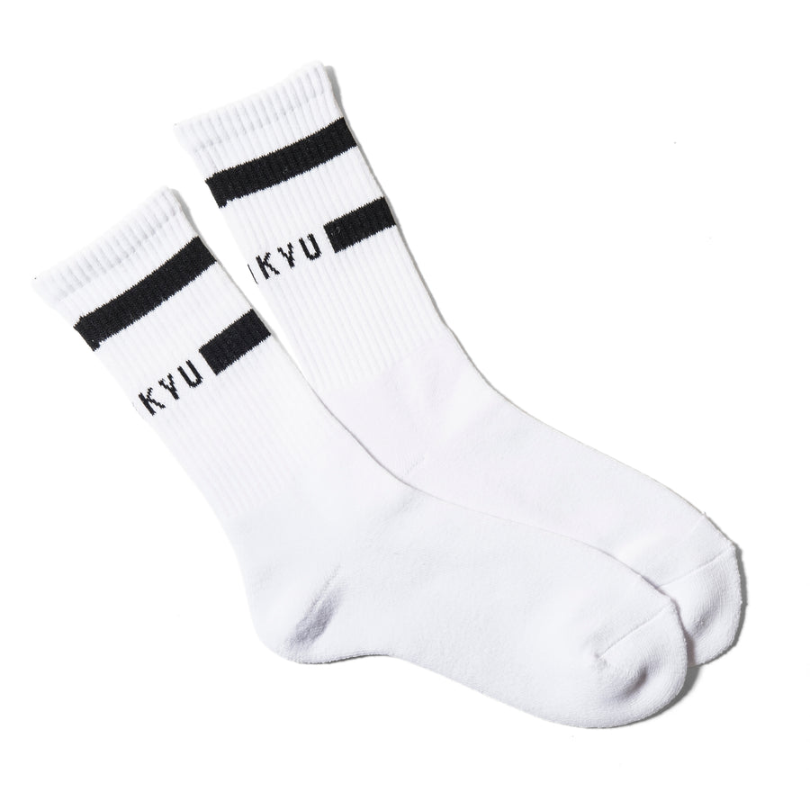 """SHUKYU"" SOCKS / WHITE × BLACK"