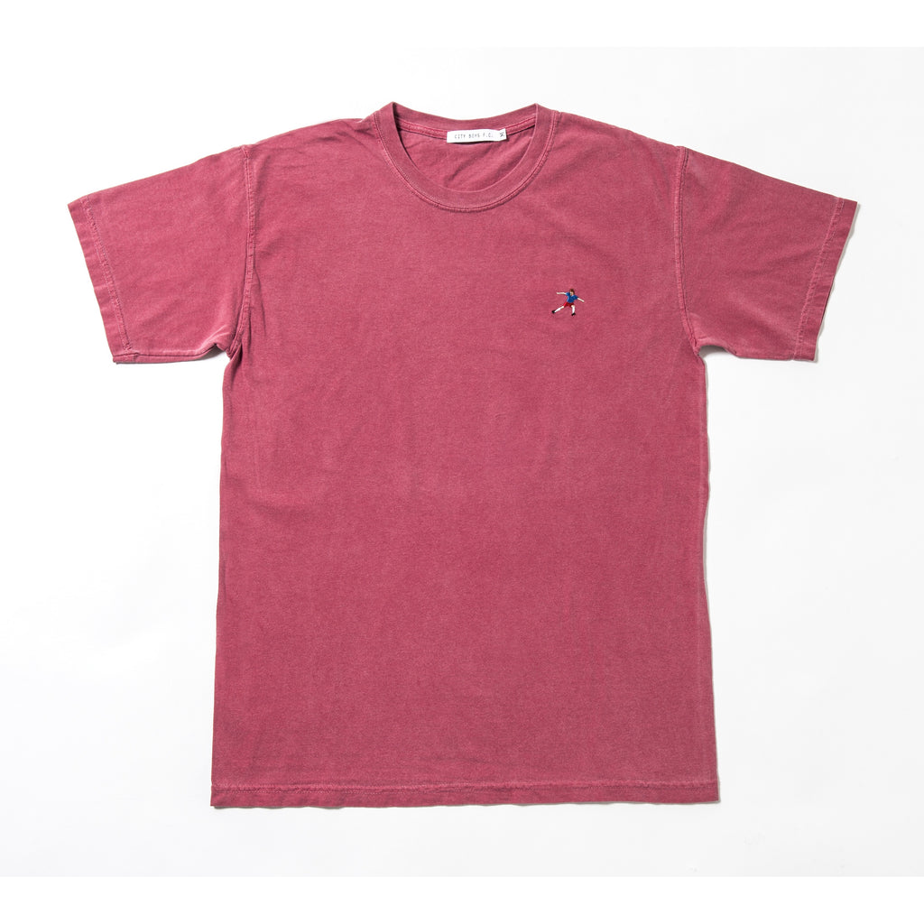 """RED MENACE"" TEE / CRIMSON"
