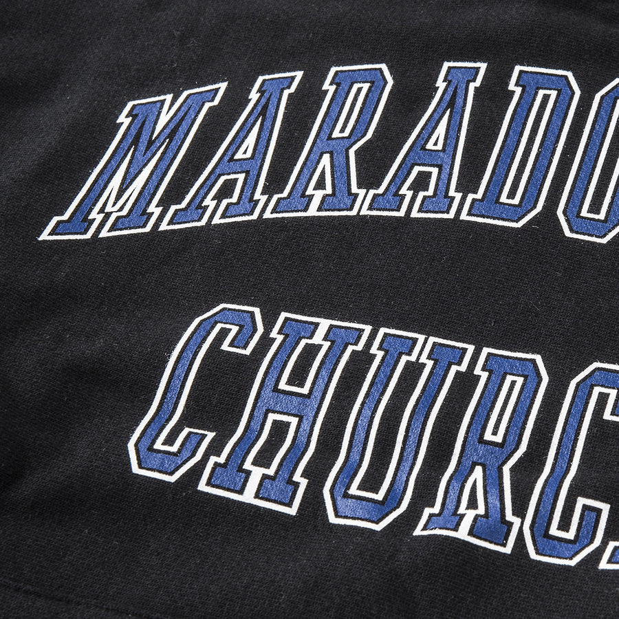 MARADONIAN CHURCH HOODIE / BLACK