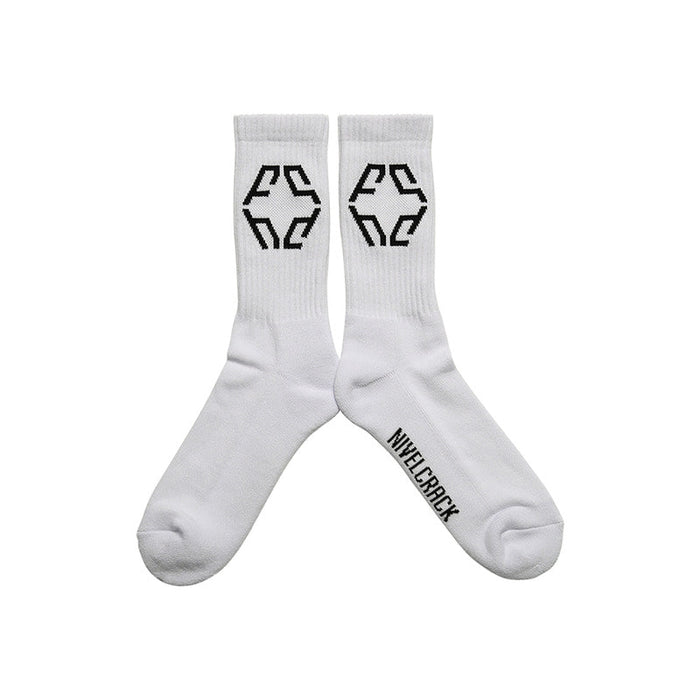 LOGO SOCKS WHITE