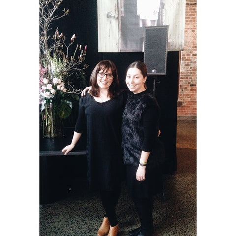 "<div style=""text-align: center;""></div> <div style=""text-align: center;"">Kate Robinson (left) and employee at MSFW</div>"