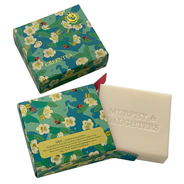 Murphy & Daughters Boxed Soap  Green Tea
