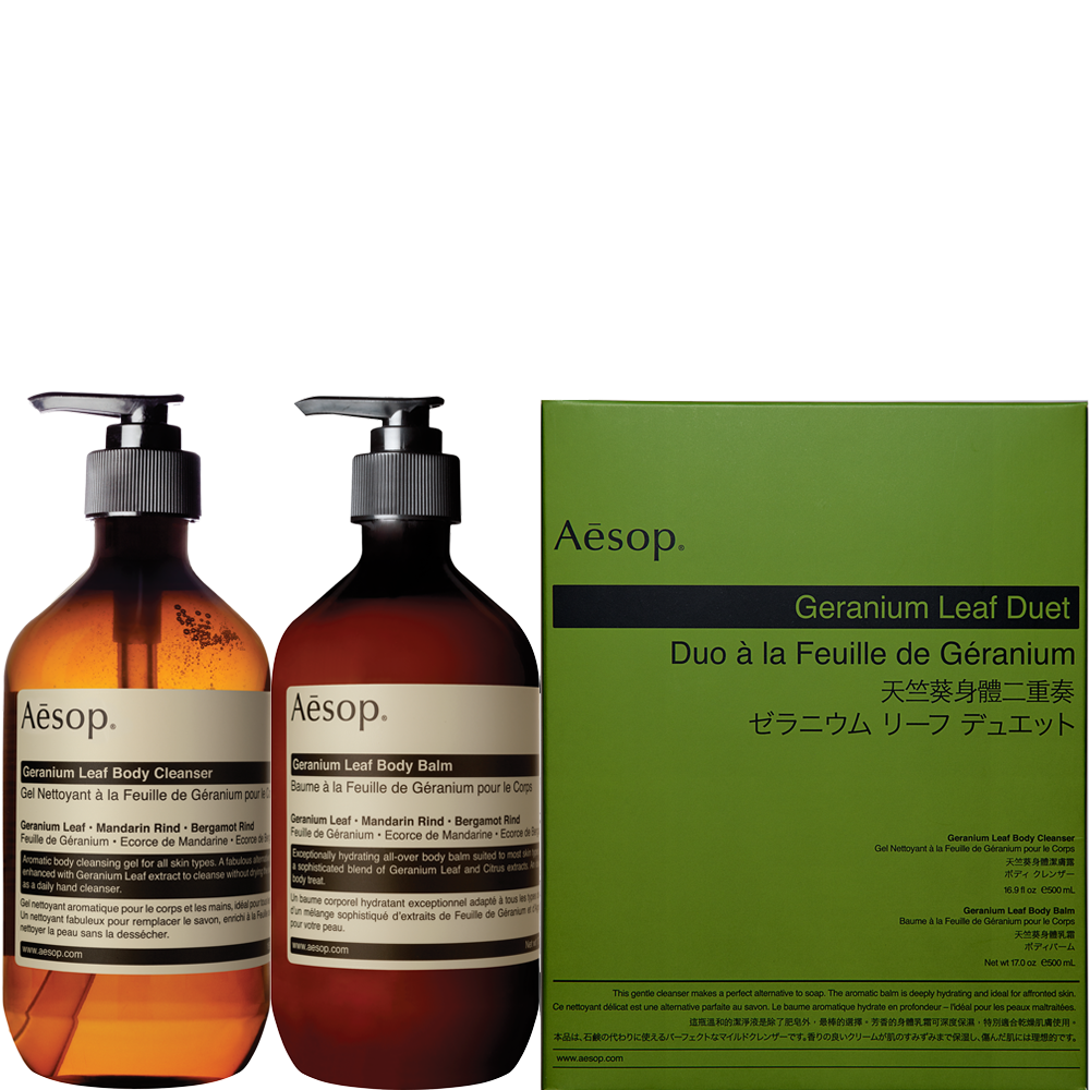 Geranium Leaf Duet Body Care Kit