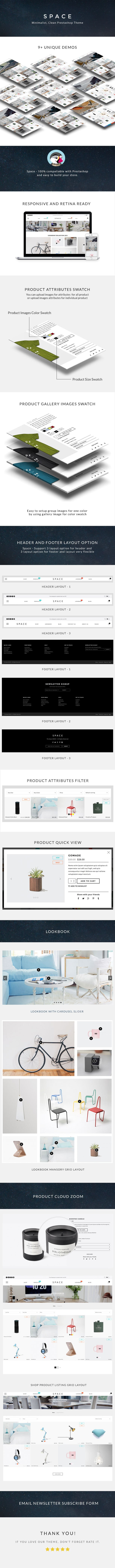 The Space - Minimalist, Clean, Responsive Prestashop Theme