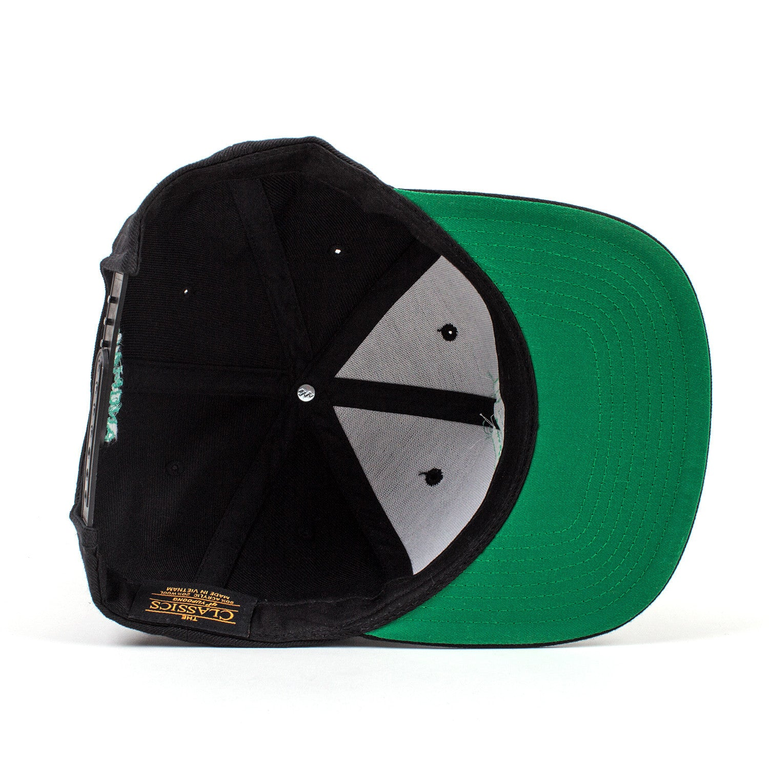 'Anomaly' Snapback - Green Embroidery