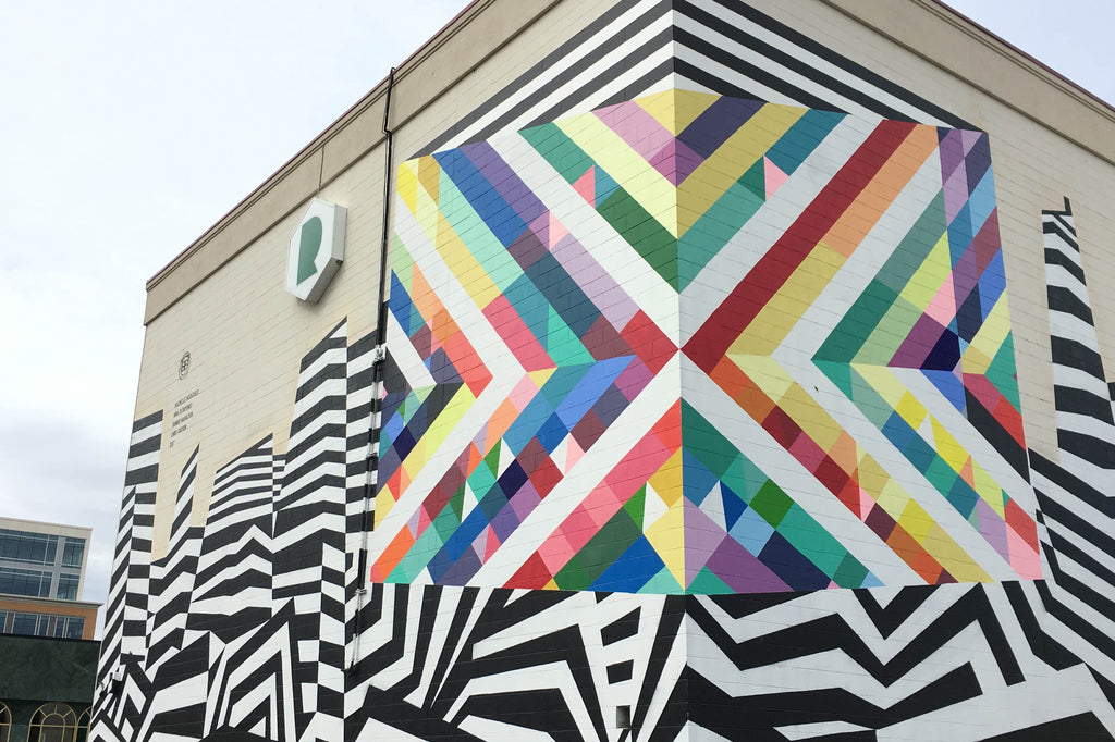 Michelle Hoogveld Adds a Colourful Dimension to Calgary's Street Art