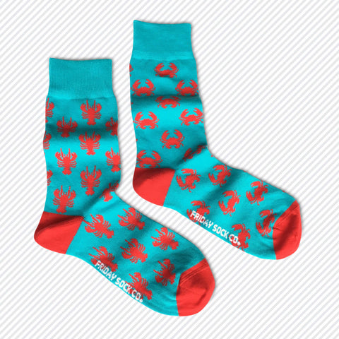 Mismatched Crab Lobster Socks