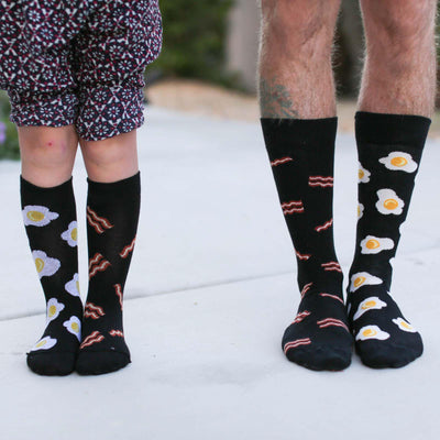 Bacon Egg Mismatched Socks
