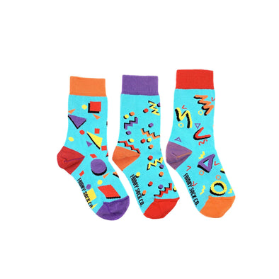 80s mismatched kids socks, ethically made in italy, designed in canada