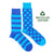 Men's Recycled Cotton Blue Stripe & Dot Socks