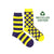 Women's Recycled Cotton Purple & Yellow Stripe & Dot Socks
