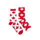 Women's Grey & Red Maple Leaf Socks