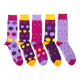 Men's Purple & Orange Polka Dots Lost Sock Laundry Box™