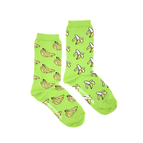 Womens Banana mismatched socks, ethically made in Italy, Designed in Canada