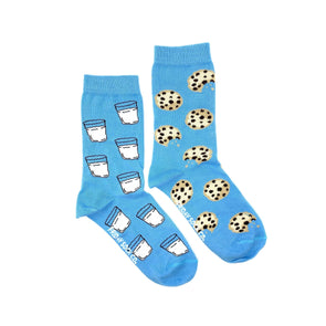 Milk and Cookies, womens socks, mismatched, designed in canada, made in italy
