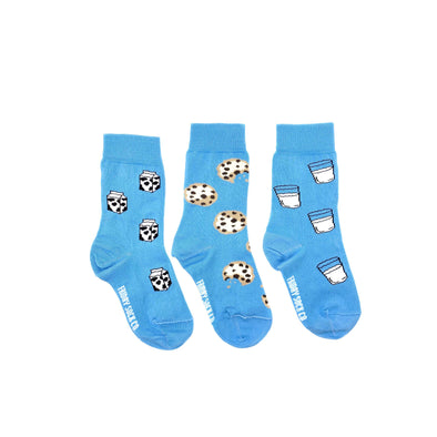Milk, Cookies, Kids socks, mismatched, designed in canada, made in italy