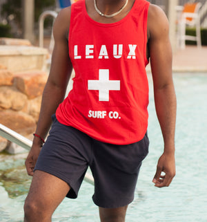 LEAUX Surf Tank Top - Red