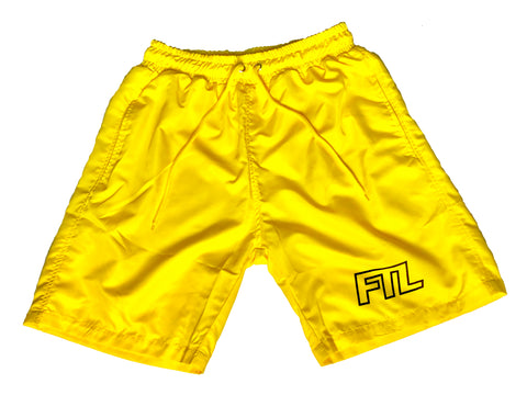 "Leaux ""FTL"" Shorts - Yellow"