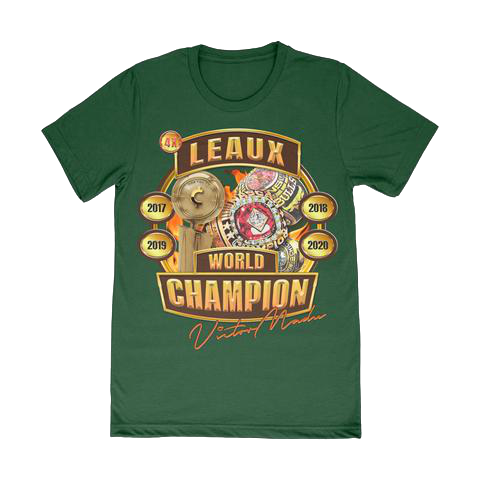 4x World Champion Tee - Forest Green