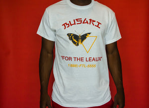 BUSARI vs. LEAUX Tee - White